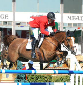 "Eric Lamaze and Coriana van Klapscheut won the $80,000 Suncor Energy Winning Round on Saturday, September 10, at the Spruce Meadows ""Masters"" Tournament in Calgary, AB. Courtesy of Starting Gate Communications"