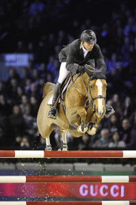 Artisan Farms has sold Coriana van Klapscheut, pictured here at the CSI5* Gucci Masters in Paris with Eric Lamaze, to Pilar Cordon of Spain. Photo by Hippo Foto Gucci Masters Paris 2010