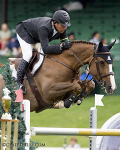 Artisan Farms has purchased two new horses for 2008 Olympic Champion Eric Lamaze, pictured here riding Artisan Farms' Coriana van Klapscheut. Photo by Cealy Tetley