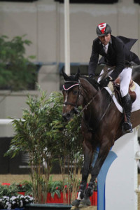 Canada's Eric Lamaze and Hickstead won the €50,000 Qualifier for the Global Champions Tour Final on Thursday, November 12, in Doha, Qatar. Photo by Lulu Kyriacou