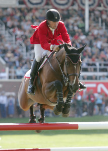 Olympic Champion Eric Lamaze won a show jumping competition in Caen, France, on Saturday, October 25, riding Narcotique de Muze II. Photo by Cealy Tetley