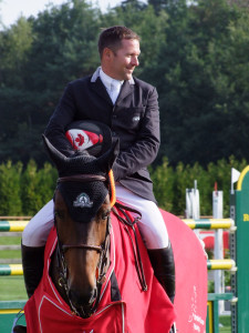Canada's Eric Lamaze and Take Off won the €20,000 Medium Tour Grand Prix on Saturday, August 22, in Valkenswaard, The Netherlands. Photo by Global Champions Tour