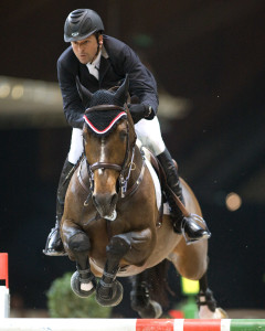 Olympic Champion Eric Lamaze and Hickstead won the €175,000 Rolex World Cup Grand Prix in Geneva, Switzerland, on Sunday, December 14. Photo by Cealy Tetley