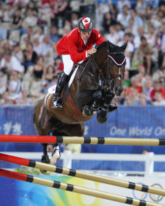 Olympic Champion Eric Lamaze rode Hickstead to victory in the €60,000 Grand Prix of Caen in France on Sunday, October 26, 2008. Photo by Cealy Tetley